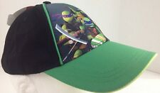 Teenage Mutant Ninja Turtles Tmnt Boys Baseball Hat Cap Blk/Grn New Nickelodeon