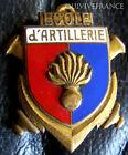 """IN5899 - INSIGNE Ecole d'Artillerie, sans """"S"""", émail, dos guilloché embouti"""