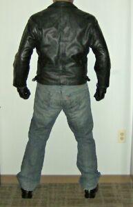 Georgetown Leather Biker Jacket Size M
