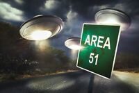 A1 | Area 51 UFO Poster Art Print 60 x 90cm 180gsm Space Aliens Alien Gift #8299