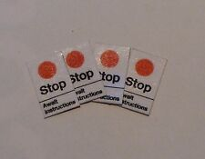 4 x OO Scale British and Network Rail 'Red Dot' Stop Signs