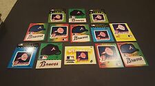 ATLANTA BRAVES  24 FLEER BASEBALL  STICKERS CARDS IN GREAT CONDITION