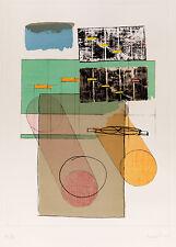 Agostino BONALUMI - La casa del vento - 1989 incisione tecnica mista originale