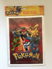 Pokemon Party Favor Gift Bags Fill with surprises party favors 8 bags NEW