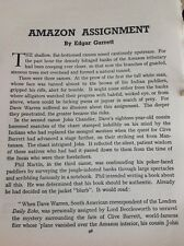 N1-4 Ephemera 1930s Short Story 5 Pages Amazon Assignment Edgar Garrett