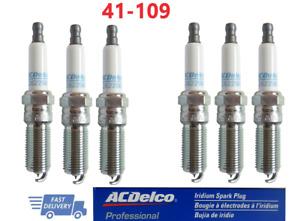 New AC Delco 41-109 Iridium Spark Plug Set 6 for Chevrolet Impala Traverse Buick