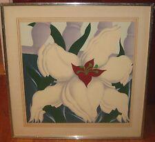Vintage 1978 JACK BRUSCA 'Flower' MODERNIST MCM Serigraph - Listed POP ARTIST