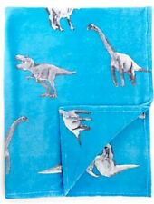 Blue Dinosaur Fleece Blanket Bed Throw..Gr8 Matching Accessories available