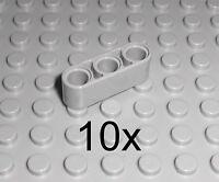 LEGO Technic - 10x Lochbalken Lochstange Liftarm 1x3 neu hellgrau LBG beam 32523