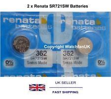 SR721SW Watch Battery x 2  Renata 362 1.55v  Silver Oxide