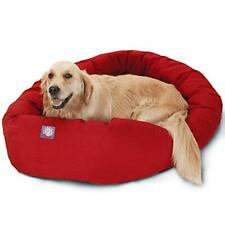 New listing 40 inch Red Bagel Dog Bed By Majestic Pet Products