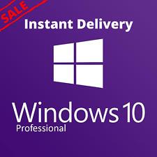 WINDOWS 10 PRO GENUINE KEY LICENSE 32/64 BIT 1 PC GENUINE INSTANT DELIVERY