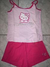 """Super Sommer-Pyjama, Shorty in  rosa  mit """"Hello Kitty""""-Motiv Gr. 134/140"""