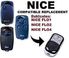 NICE FLO1, FLO2, FLO4 Garage Door/Gate Remote Control Replacement/Duplicator
