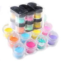 12 Color Jumbo size Shiny Glitter Nail Art Tool Kit Acrylic UV Powder Tips Tools