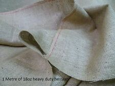 Natural Hessian - 18oz Heavy Duty - 183cm wide - 100% Jute Fabric - 1 Metre