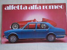 Alfa Romeo Alfetta brochure c1976 small format