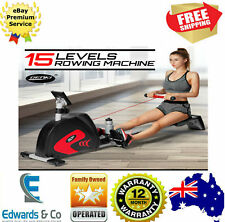 Exercise Rowing Machine Rower Strength Cardio 15 Levels Fitness Whole Body Train