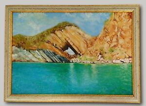 Hole Island - Original Oil Painting Framed & Signed Iztuzu Beach Dalyan Turkey