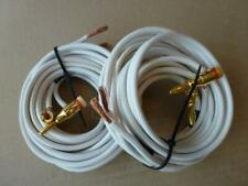 Qed Audio Products Ltd Speaker Cables With 4 Banana Plugs-3.10 & 2.90 Meters