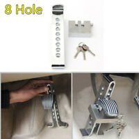 Car Brake Pedal Lock 8 Hole Stainless Steel Clutch Security Lock Kit Anti-theft