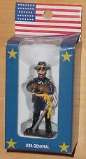AMERICANA SOUVENIRS HAND PAINTED HISTORIC FIGURINE USA GENERAL PLUS 4 METAL FIGS