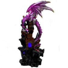 Dragon Guarding Castle LED Statue Figurine Ornament Sculpture Light Up *23 cm*