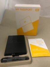 WD - My Passport 4TB External USB 3.0 Portable Hard Drive - Black