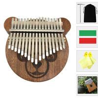 Kalimba Instruments Mahogany 17 Keys Thumb Finger Piano For Kids Toy Mbira Sanza