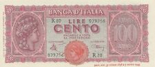 @@@@@ Italy 100 lire 1944 Pick 75a P75a uncirculated UNC not PMG @@@@@