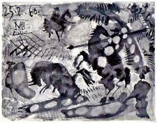 PABLO PICASSO 1960 PRINT w/COA Unique, Stunning £ Stylish Pablo Picasso RARE ART