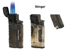 Vertigo Stinger Quadruple Quad Jet Lighter with Punch Puncher - Clear / Charcoal