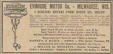 W5804 Evinrude Motor per fuori bordo - Pubblicità 1924 - Advertising