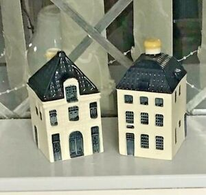 KLM DELFT BOLS MINIATURE HOUSES -  Nos 55 is Wax Sealed With Liquid no 64 empty