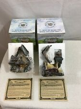 Lot of 2 Boyds Bears Bearly Built Villages In Original Boxes With Certificate.
