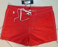 P-Club Costume da bagno uomo taglie forti a pantaloncino colorato rosso