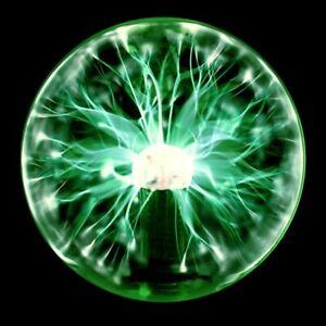 8'' Magic Plasma Ball Touch & Sound Sensitive Lamp Light 3 Colors Crystal Light