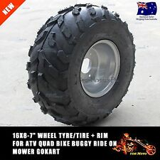 "1 x 16X8-7"" inch Wheel Rim + Tyre Tire 110cc 125cc Quad Bike Dirt Bike ATV Buggy"