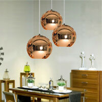 Modern Hanging Lamp Glass Globe E27 Ceiling Pendant Light Chandelier Fixture