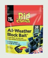 BIG CHEESE PROFESSIONAL STRENGTH BLOCK BAIT RAT & MOUSE KILLER POISON STV