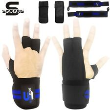 Crossfit Grip Leather Palm Gloves Wrist Support Power lifting Gloves Wraps Ideal