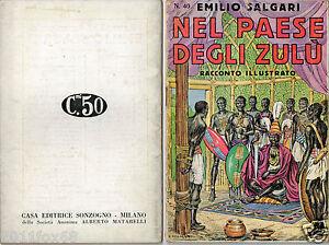 books emilio salgari racconto illustrato n.40 avventure first edition 1936 rare
