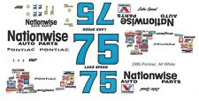 #75 Lake Speed Nationwise Pontiac 1/32nd Scale Slot Car Waterslide Decals