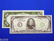 Reproduction $1000 1934 Frn Us Paper Money Currency Copy