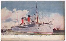 "Union Castle Mail Steamer ""Walmer Castle"" RP PPC, 1914 London PMK From Passenger"