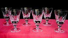 SAINT LOUIS JERSEY 6 WINE GLASSES VERRES A VIN PAQUEBOT FRANCE CRISTAL TAILLÉ D