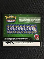 Pokemon Sun & Moon Burning Shadows TCG online code cards (12 count)
