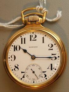 "E Howard Watch Co. 21J Series 11 Railroad Chronometer Pocket Watch, 16s ""NICE"""