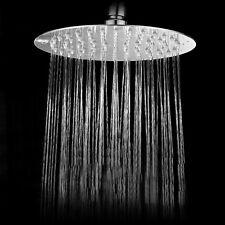 8''  Round  Stainless Steel Rain Shower Head Rainfall Bathroom Chrome  Sprayer#