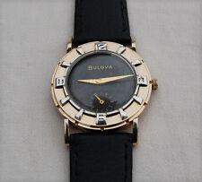 BULOVA –  10k Gold Plate – Black Dial – Sub Dial - Mens Wrist Watch – 1950's